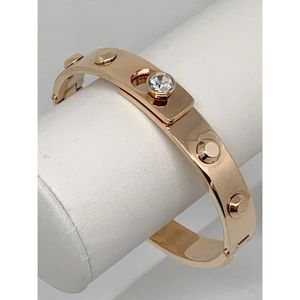 Michael Kors Astor Rose Gold CZ Bangle Bracelet